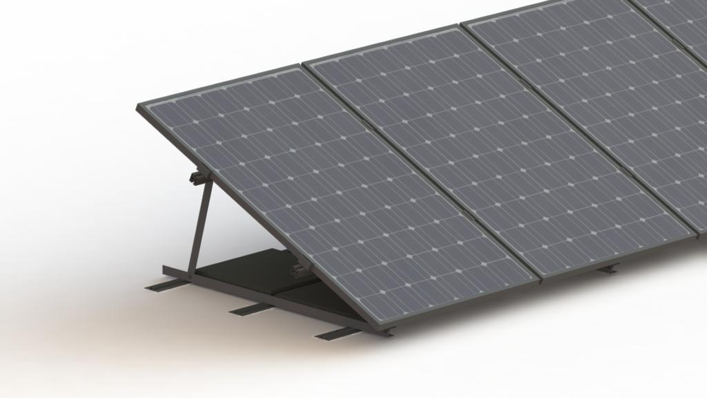 Photovoltaik Flachdachsysteme