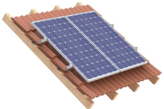 Schrägdach PV-Monagesysteme mit Dachhaken für Ziegeldächer