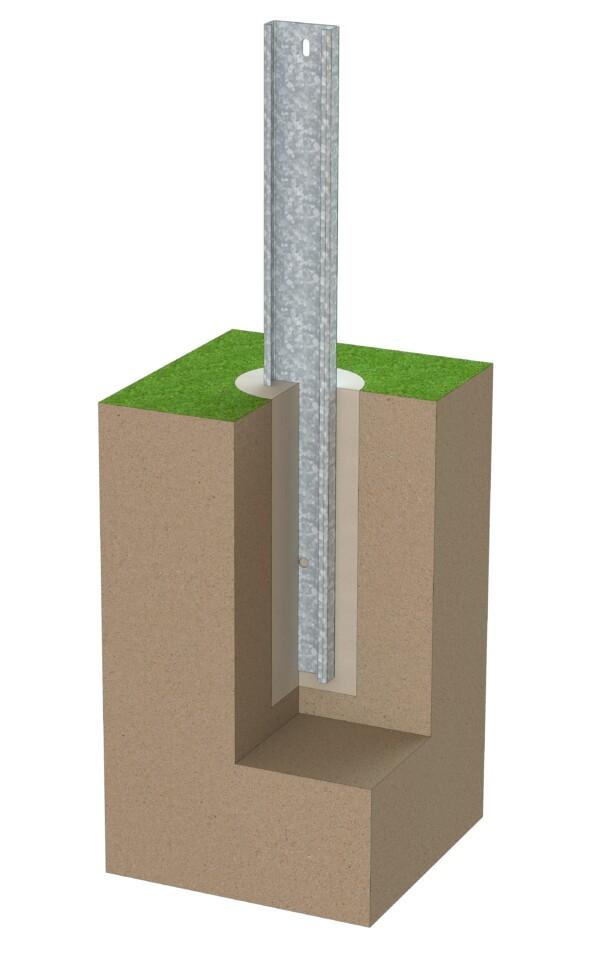 Fundament für Freiland Solaranlage