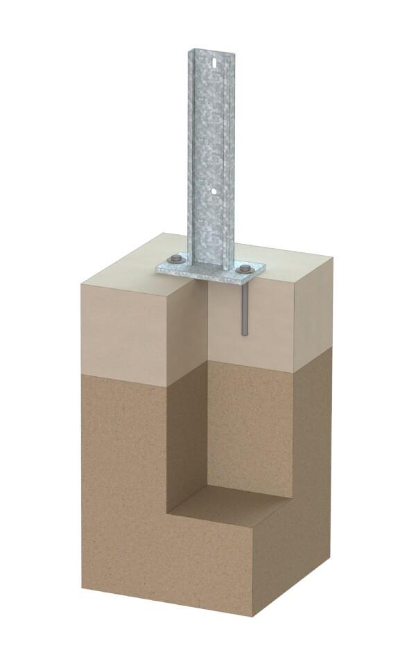 Fundament für Solaranlage