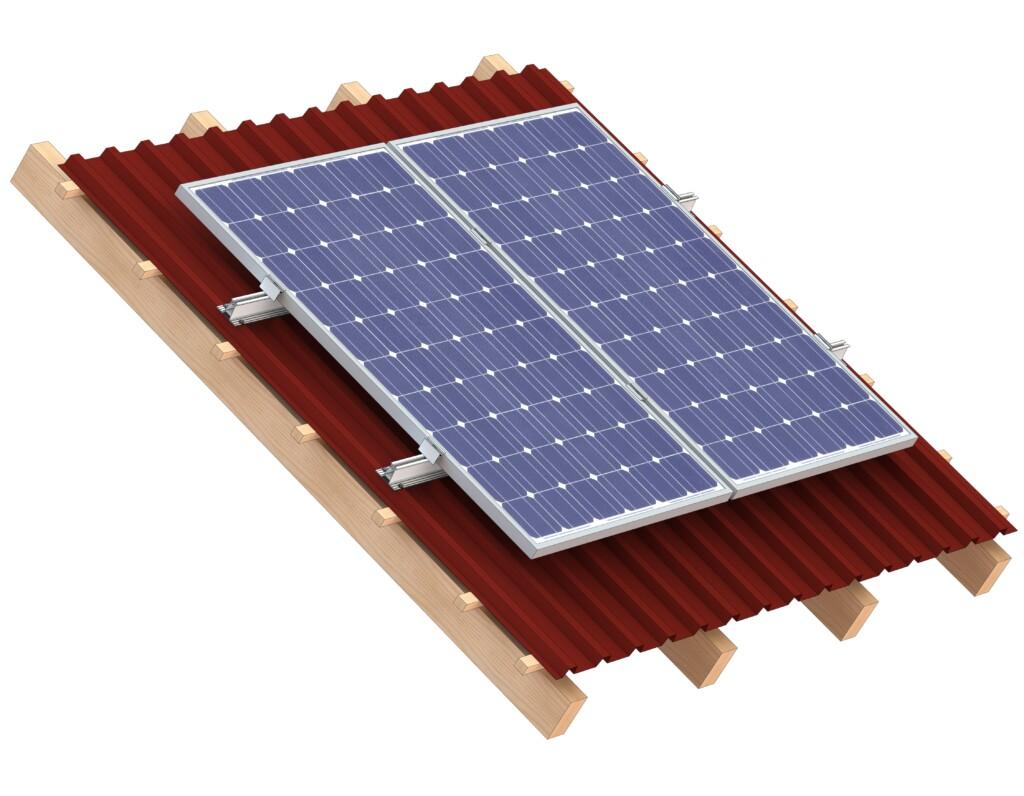 Photovoltaic Montagesystem für Trapezblechdächer